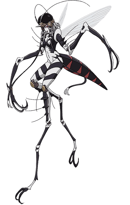 png black and white Mosquito Girl