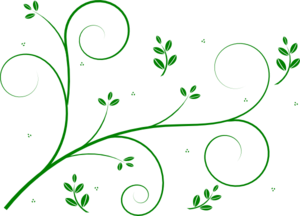 banner royalty free Vine clipart. Green floral clip art