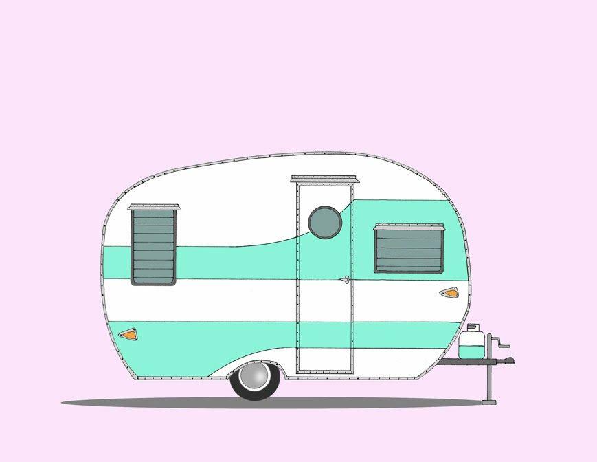 jpg free Retro Camper Cliparts
