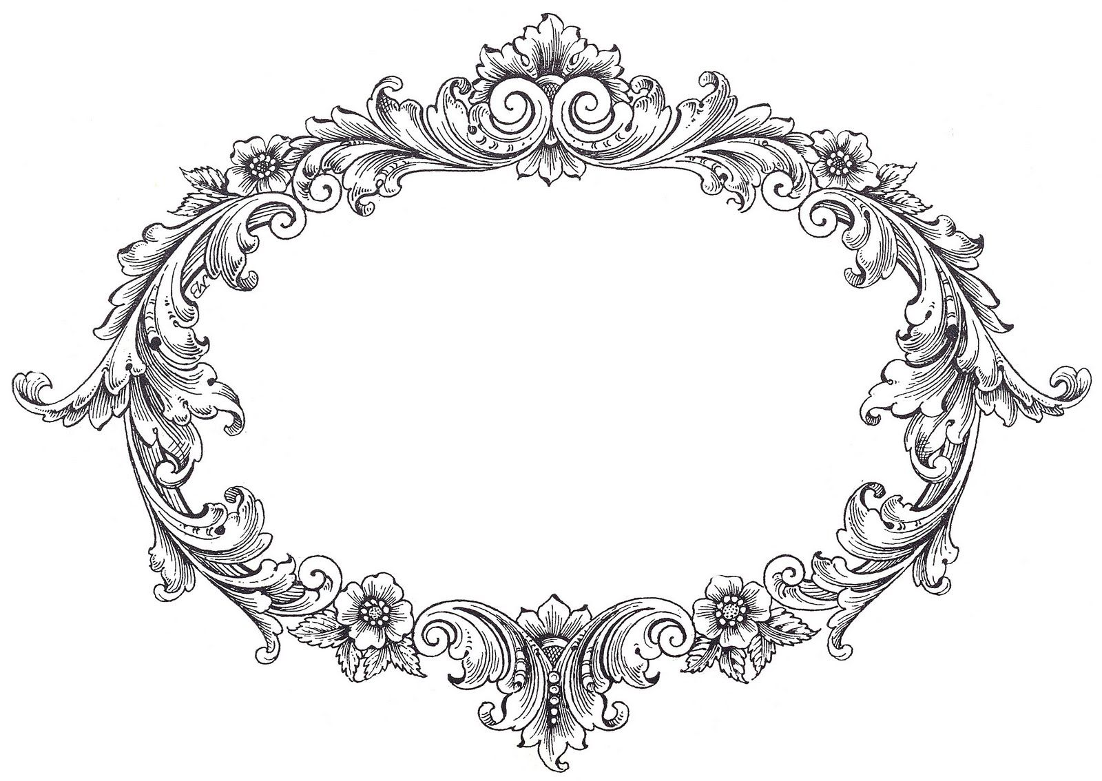jpg royalty free stock Vintage clipart.  frame fancy and