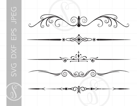 picture free Borders art svg dxf. Vintage clipart
