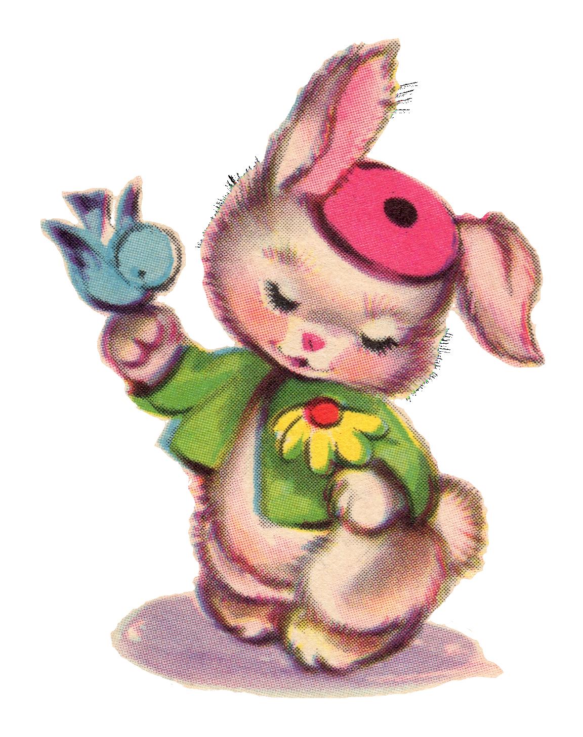 jpg transparent download Vintage clipart. Bunny