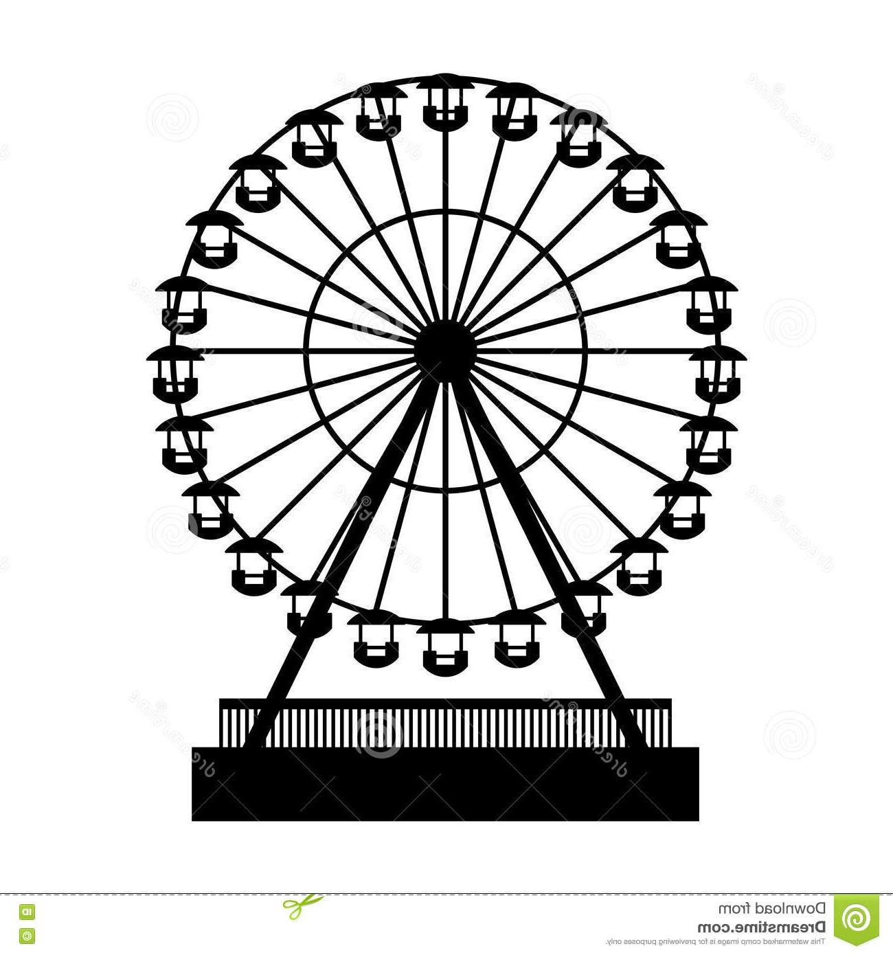 clipart free Vintage ferris wheel clipart. Free download best