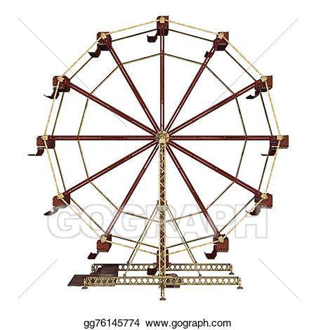 clip free stock Vintage ferris wheel clipart. Stock illustration clip art