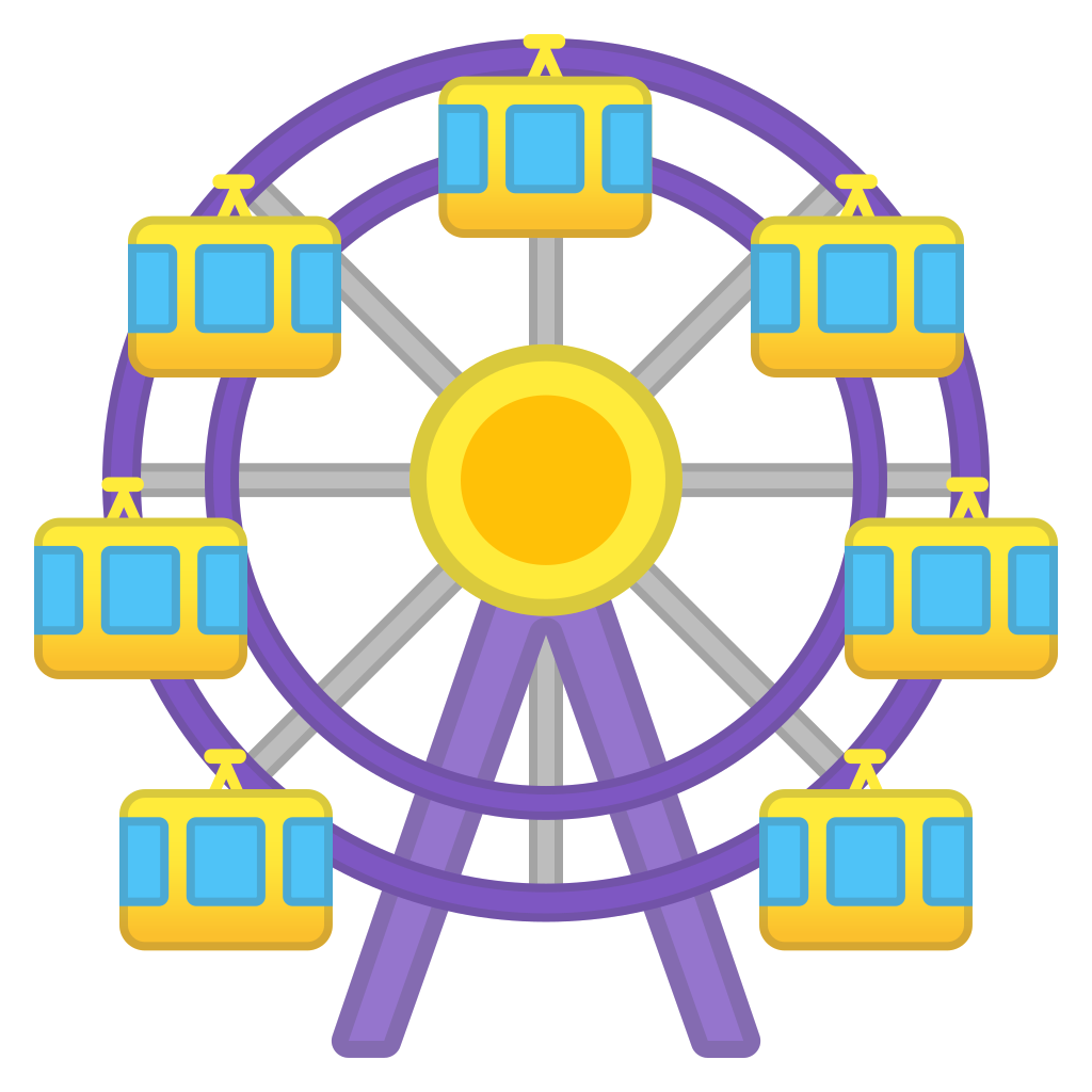 free download Vintage ferris wheel clipart. Icon noto emoji travel