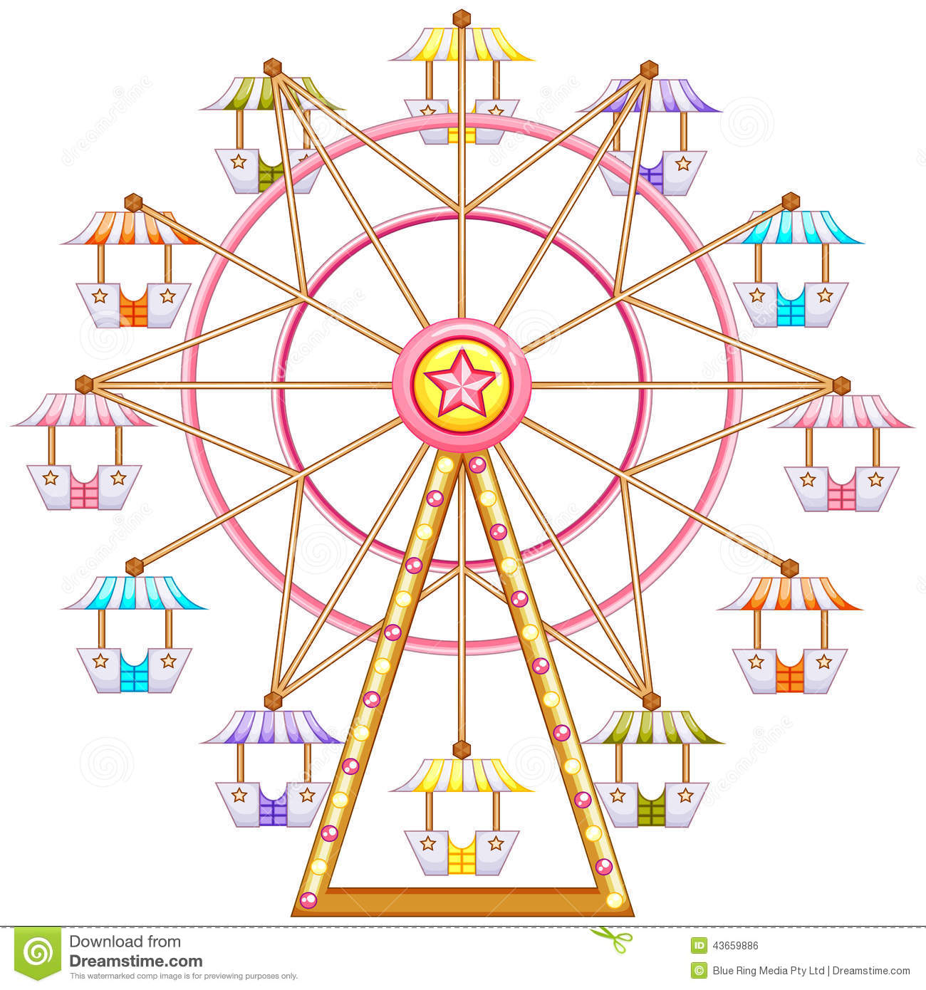 banner library download Vintage ferris wheel clipart.  clipartlook