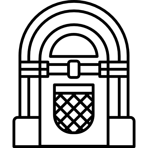 jpg black and white library vinyl Icon