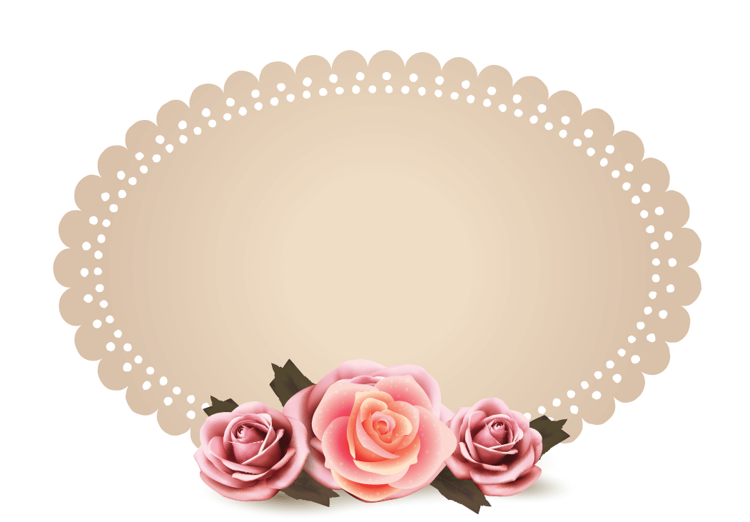 graphic library library Vintage lace clipart. Design free logo roses