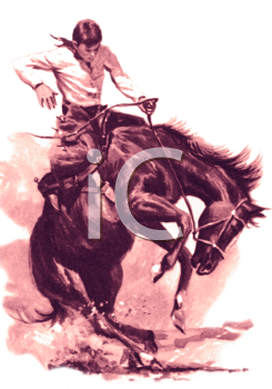 royalty free library Vintage western clipart. Rodeo cowboy clip art