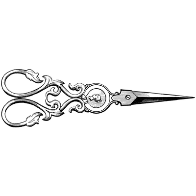 clip art library download Pair Of Vintage Scissors transparent PNG