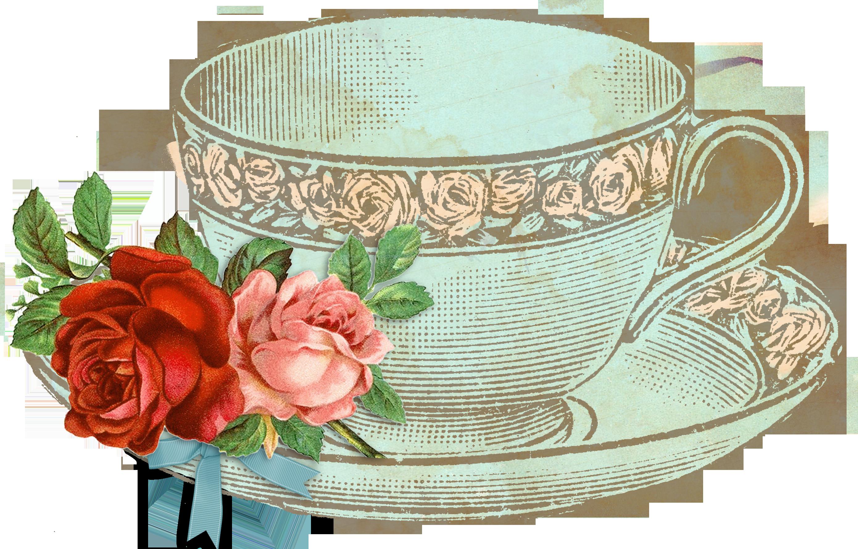 jpg freeuse library  c b ddc. Vintage teacup clipart