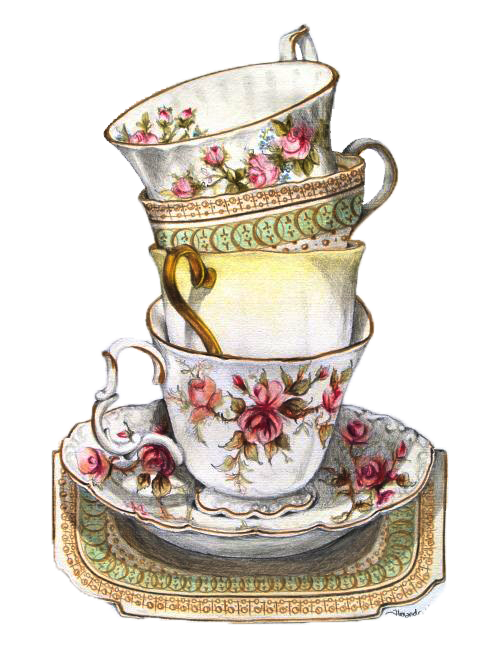 clip art royalty free Vintage teacup clipart. Tea cup drawing at