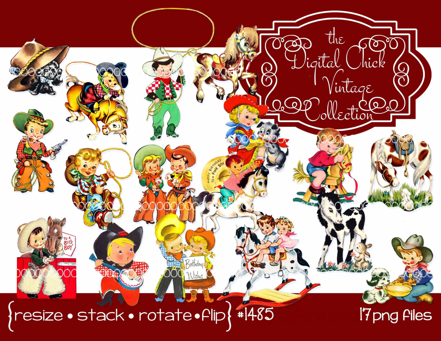 clip art freeuse stock Free cowboy cliparts download. Vintage western clipart