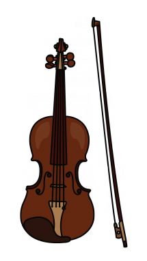 banner black and white library Viola Drawing at GetDrawings