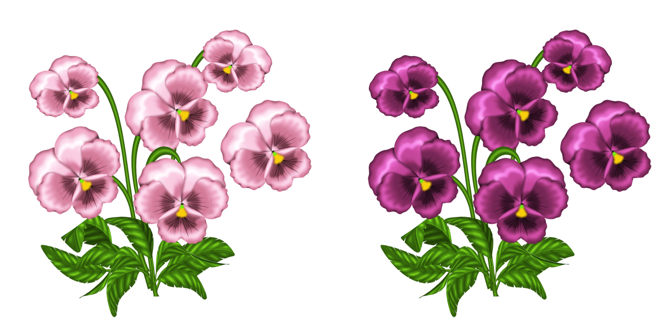 clip black and white library Violet clipart. Pink violets png gallery