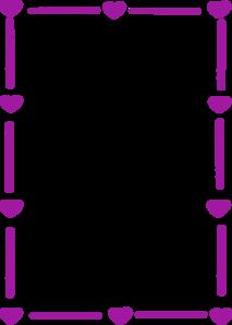 banner transparent stock Violet clipart border. Purple heart clip art.