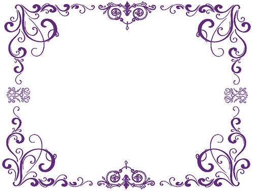 picture freeuse library Free purple download clip. Violet clipart border