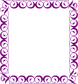banner free stock Fancy purple borders . Violet clipart border