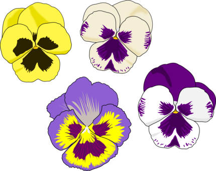 vector free Violet clipart drawing. Watercolor painting flower purple