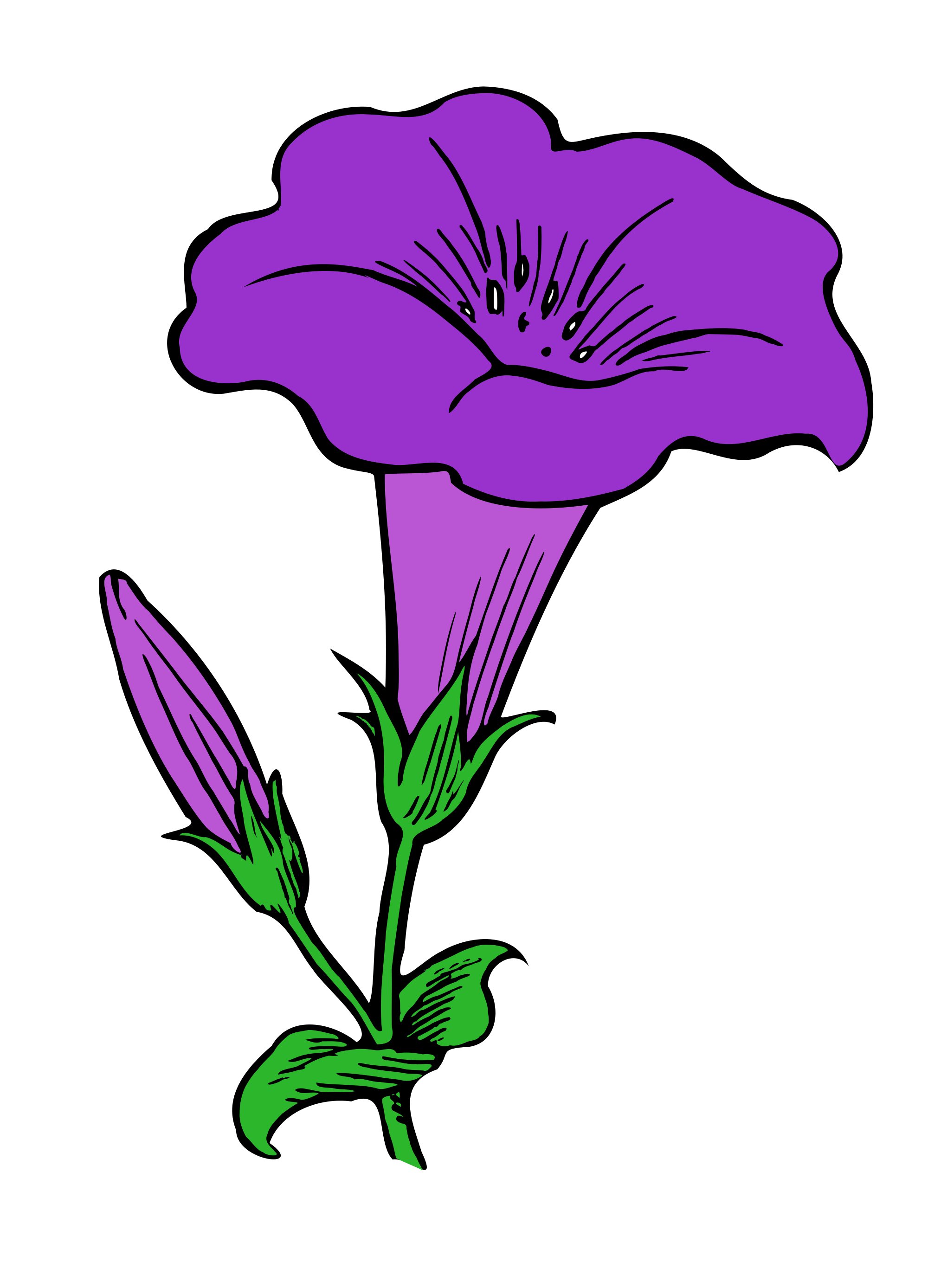 free stock Flowering free on dumielauxepices. Violet clipart flower plant