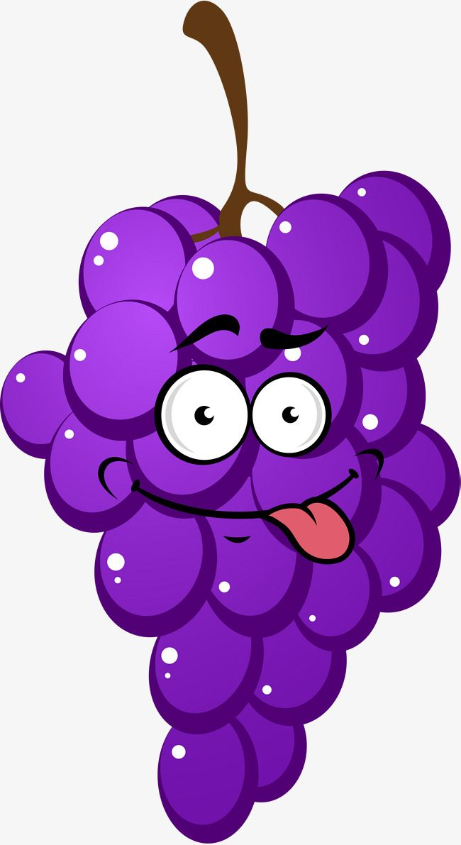 banner black and white library Purple cartoon grapes cute. Violet clipart grape.