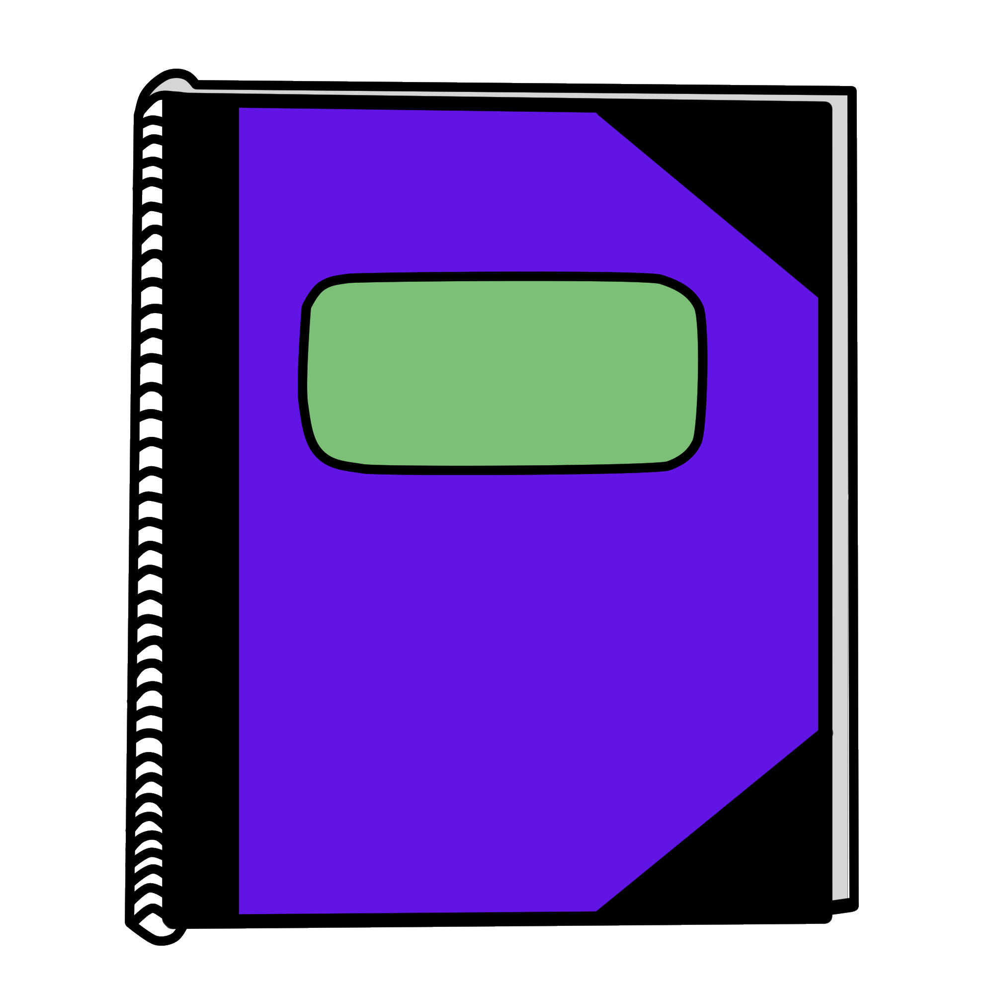 clip black and white library Violet clipart notebook. Image new png object