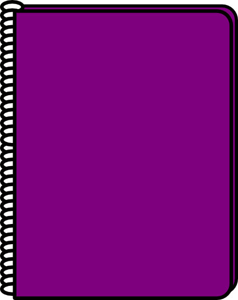 png free Violet clipart notebook. Purple clip art panda.