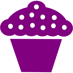 svg royalty free stock Violet clipart purple food. Cupcake icon free icons
