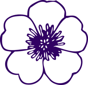 transparent Violet clipart sketch. Purple flower drawing at.