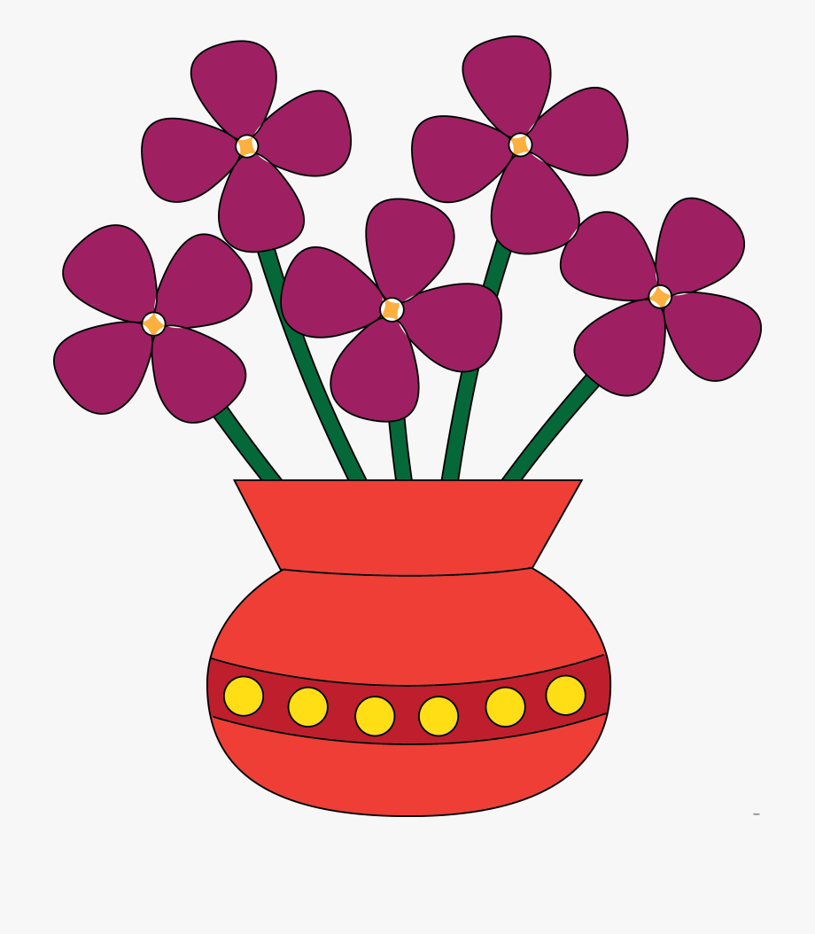 banner royalty free stock Violet clipart vase. Flowers in a transparent