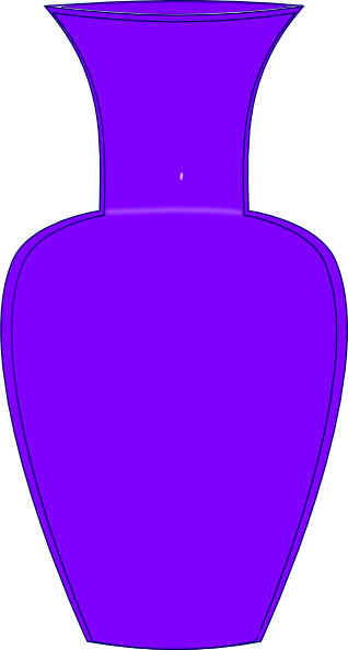 vector free stock Violet clipart vase. Purple clip art at