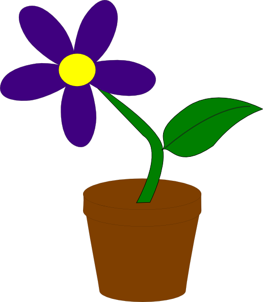 picture royalty free download Violet clipart vase. Purple flower clip art.