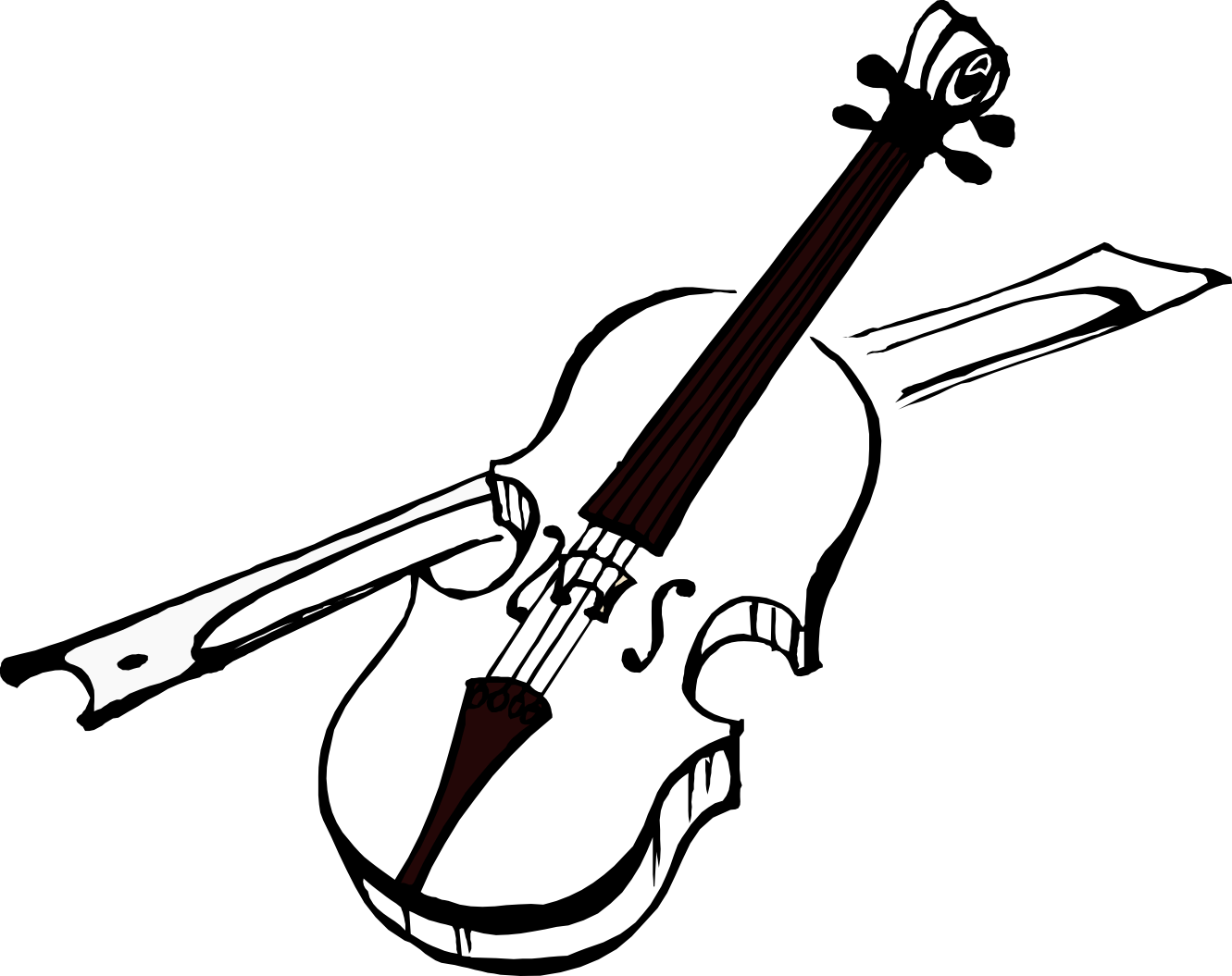 clipart library Musical instrument clipart black and white. Violin clip art transprent