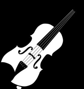 svg freeuse download Black white clip art. Violin clipart public domain