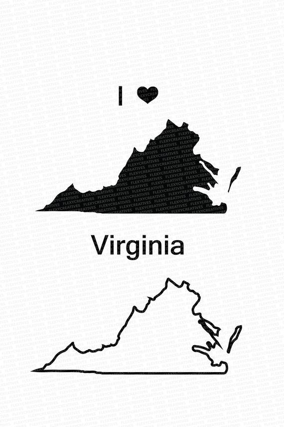 stock Virginia vector. State clipart clip art