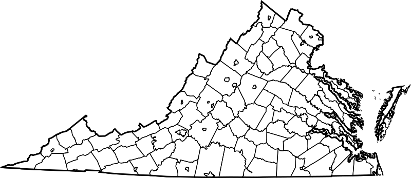 banner transparent download File map of counties. Virginia vector