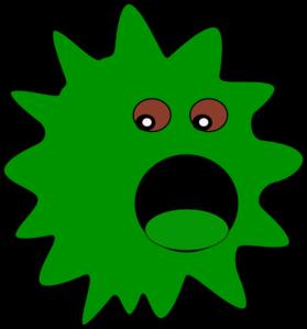 jpg black and white Virus clipart green. Clip art at clker