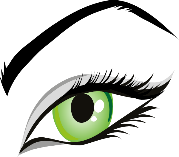 vector royalty free stock Green Eye Clipart