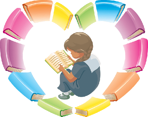 clipart transparent Vision clipart learning. Love reading books the