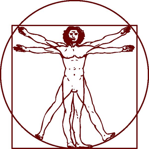 vector transparent Vitruvian Man Clipart
