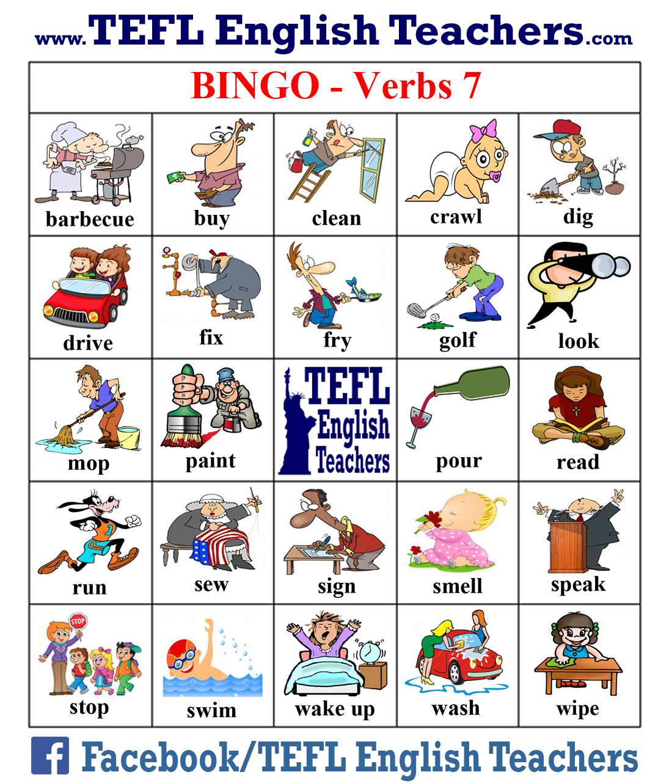 clip art library library Grammar clipart irregular verb. Tefl english teachers bingo