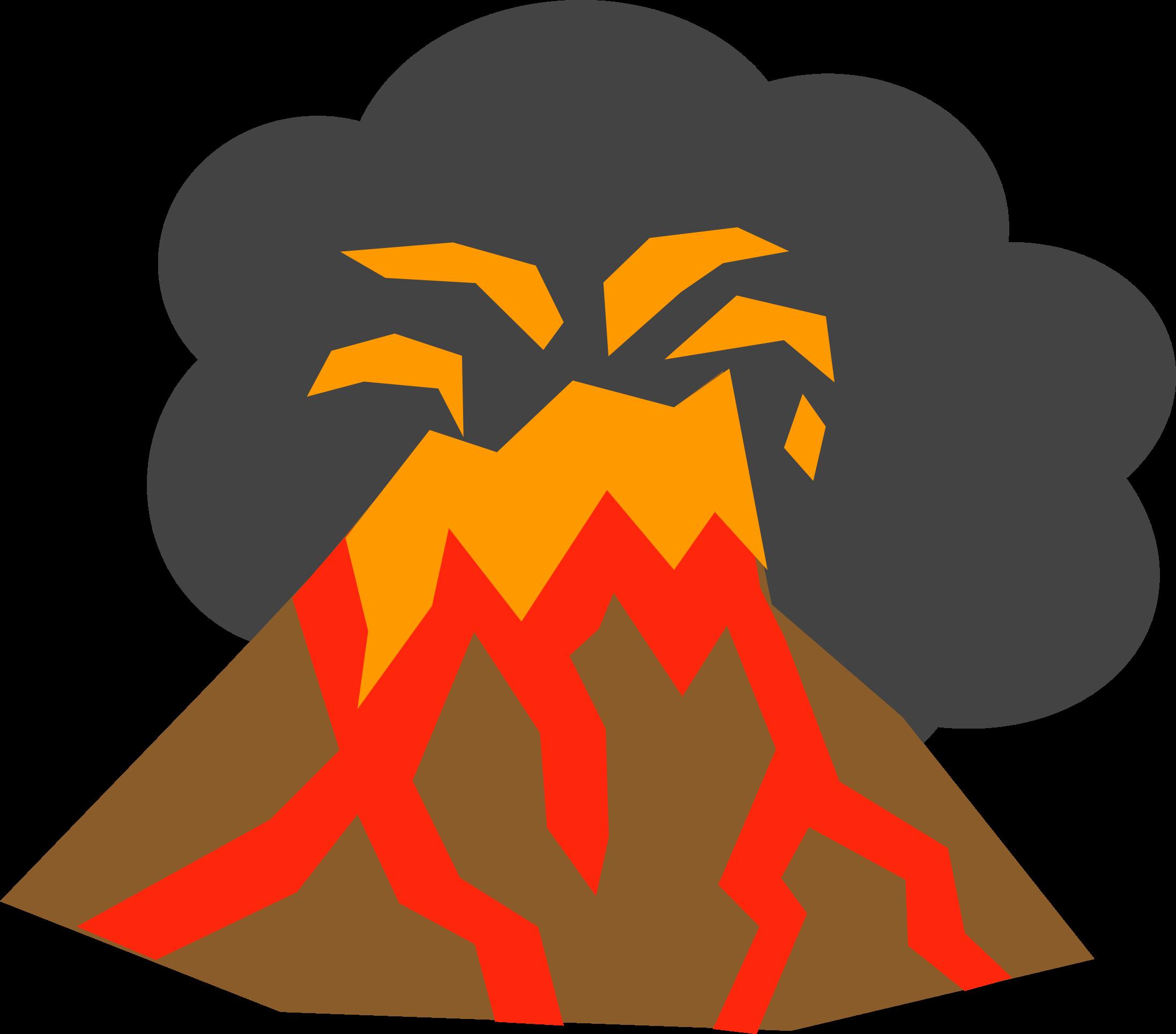 banner transparent Volcano clipart. Big image png
