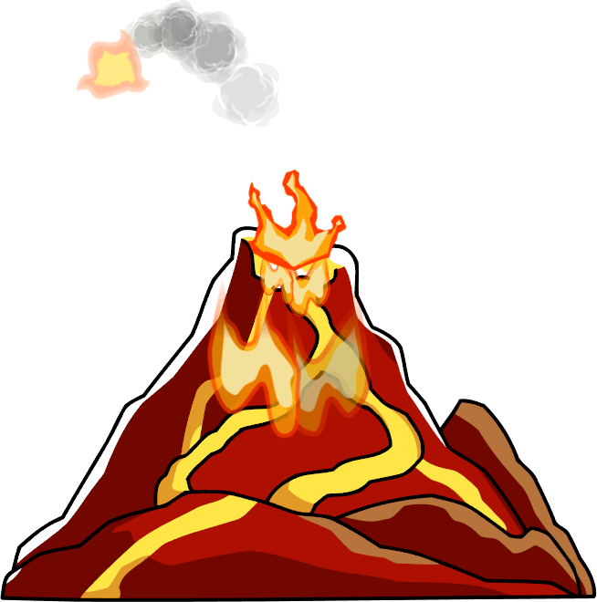 jpg freeuse library Volcano clipart. Underwater free on dumielauxepices
