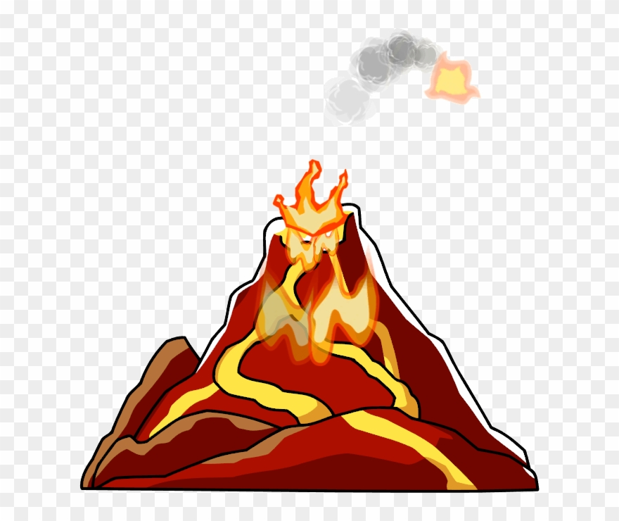 vector free Png pinclipart . Volcano clipart