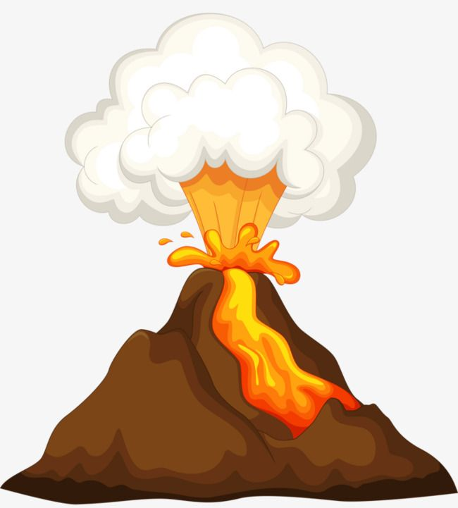 graphic freeuse download Volcano clipart. Volcanic eruptions ddd dinosaur
