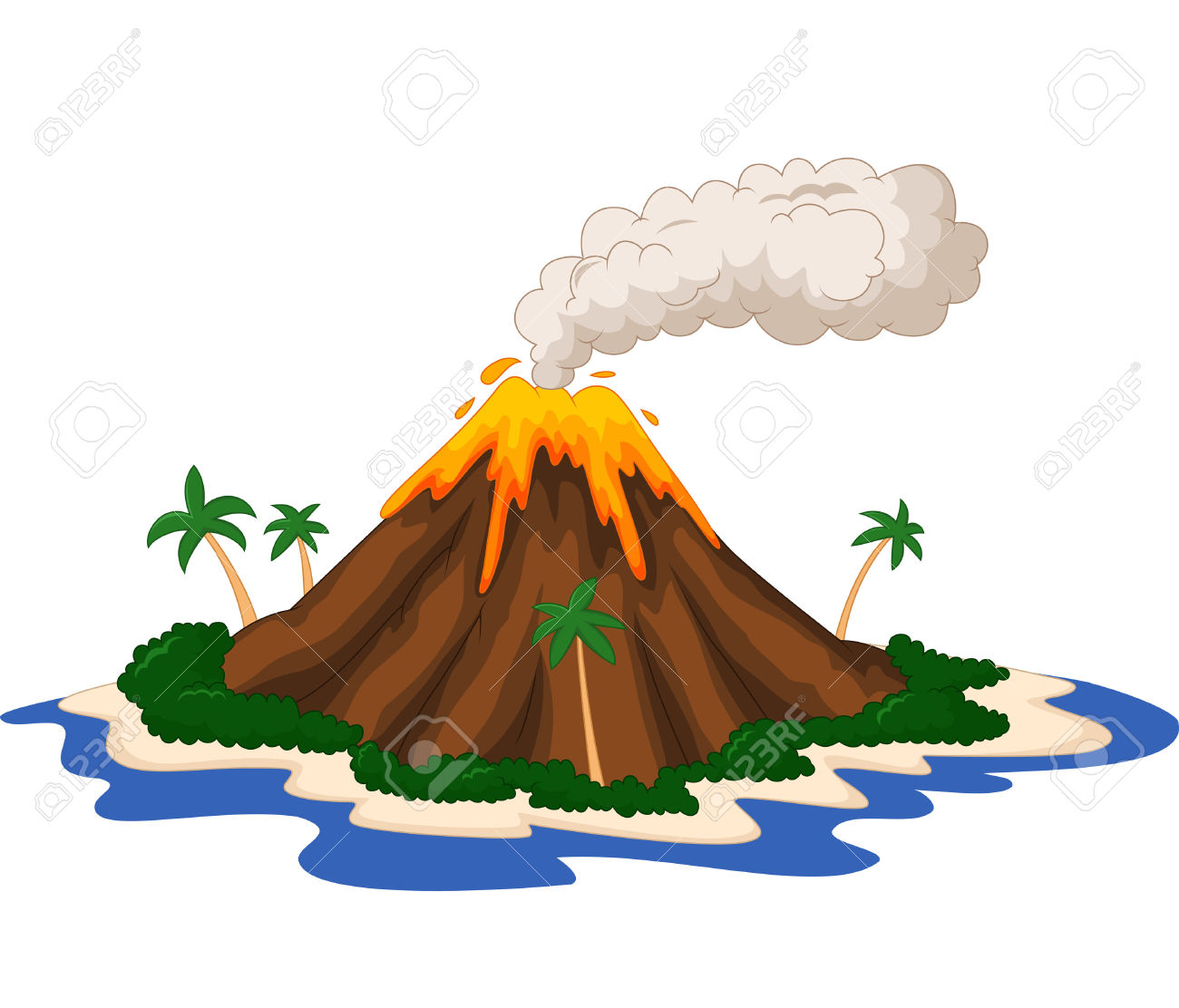 vector black and white stock Best clipartion com . Volcano clipart