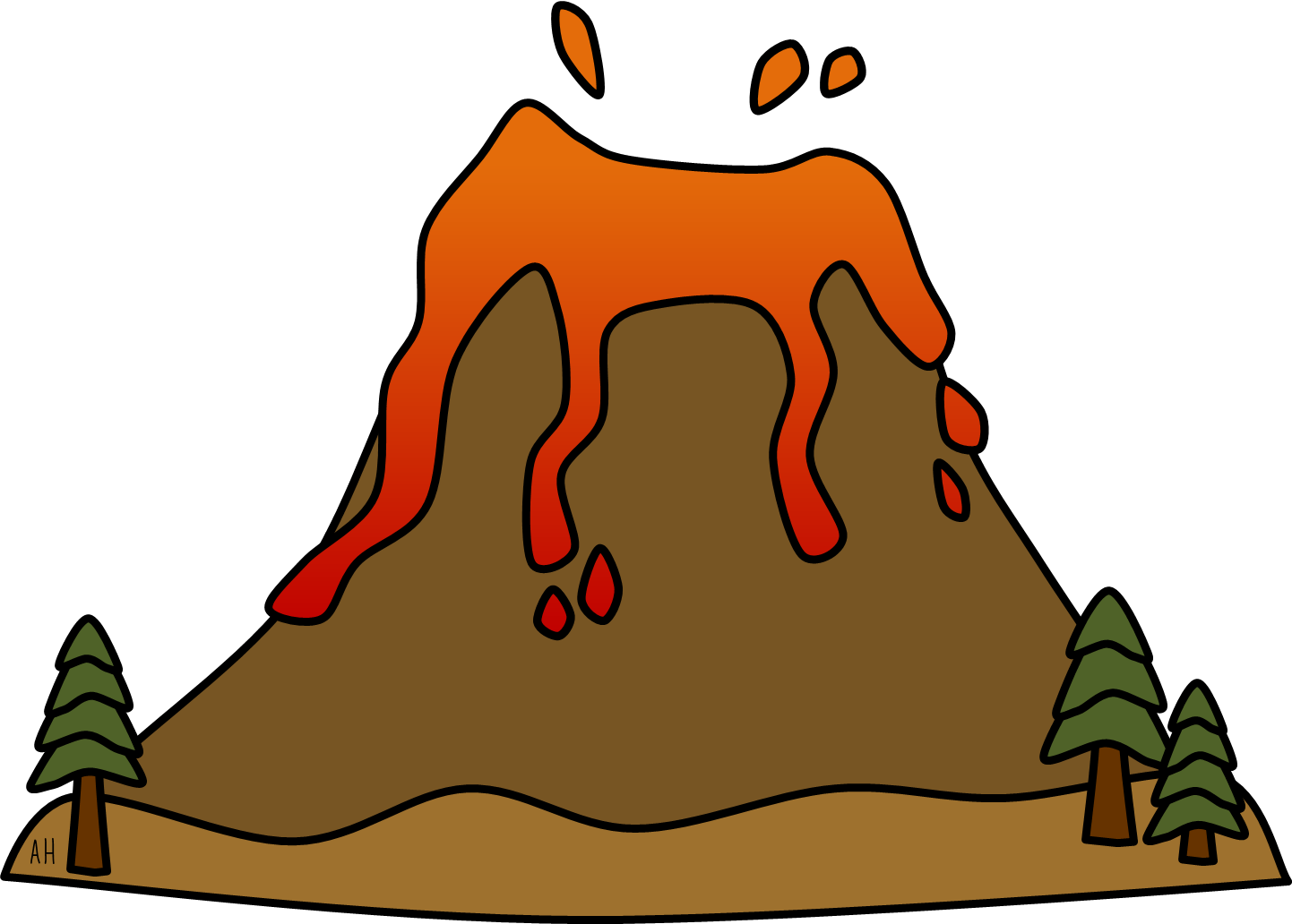 image royalty free Volcano clipart.