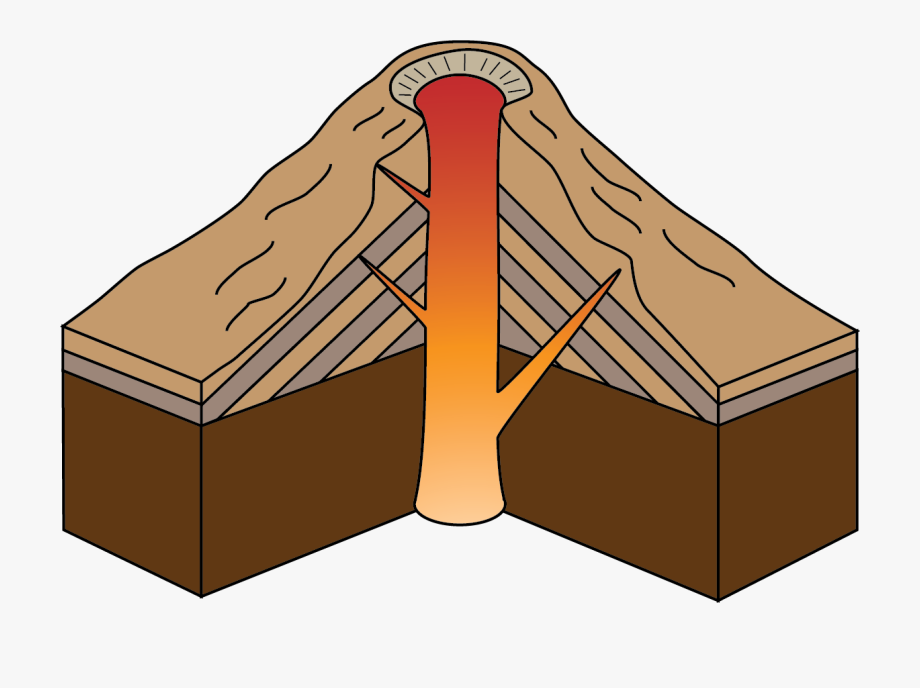 svg black and white download Composite cliparts . Volcano clipart lava dome