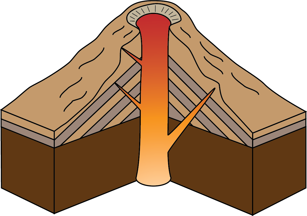 picture download Types of volcanoes caldera. Volcano clipart lava dome