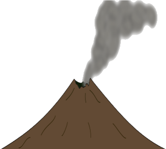 svg black and white stock Download on . Volcano clipart lava dome